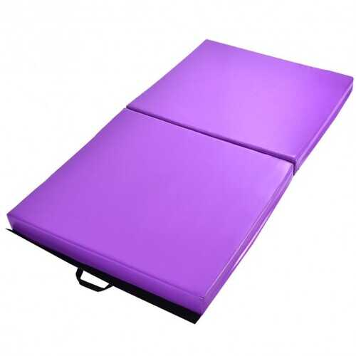 6' x 3.2' Portable Thick Gymnastics Mat with Two Folding Panel