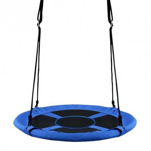 """40"""" Flying Saucer Tree Swing Indoor Outdoor Play Set-Blue"""