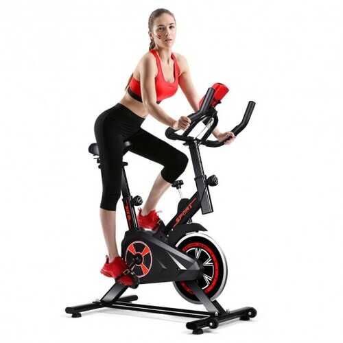 Indoor Cycling Stationary Exercise Bike with Smart Display and Adjustable Saddle