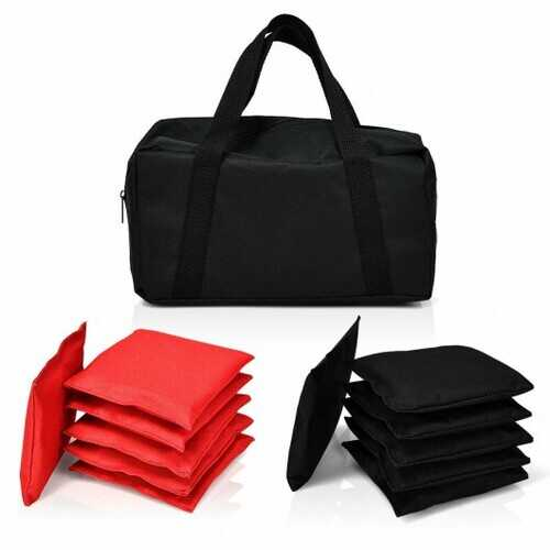 12 Beanbag Black and Red Weather Resistant Bags