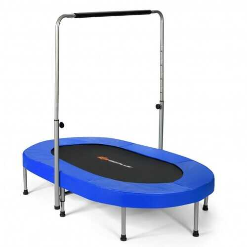 Foldable Double Mini Kids Fitness Rebounder Trampoline-Blue