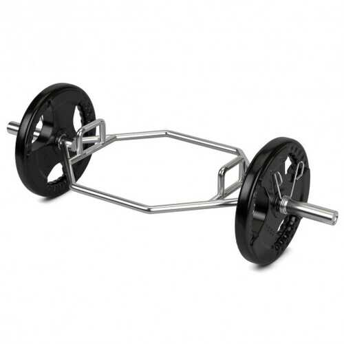 """56"""" Olympic Hexagon Deadlift Trap Bar with Folding Grips Powerlifting"""
