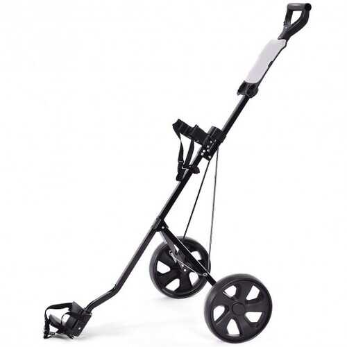 Folding 2 Wheels Push Pull Golf Cart Trolley with Scoreboard