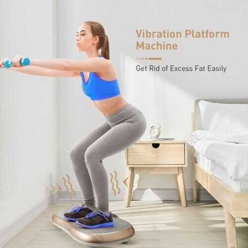Vibration Plate Exercise Machine for Weight Loss & Toning with 3 Gears Vibration Frequency