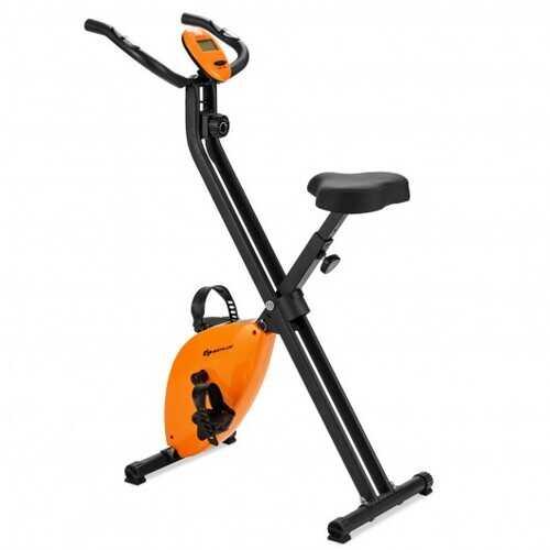 Folding Magnetic Upright Exercise Bike Indoor Cycling Stationary Bike Gym Cardio