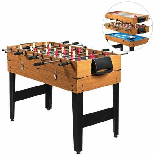 3-In-1 Combo Game Table Soccer Billiard Slide Hockey