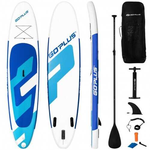 "10 ft Inflatable Stand Up Paddle Board 6"" Thick with Backpack Leash Aluminum Paddle"