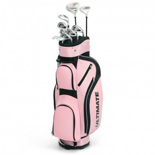 10 Pcs Womens Complete Golf Club Set with Alloy Driver