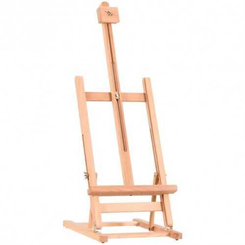Adjustable Portable Wood Tabletop Easel H-Frame for Artist Painting Display