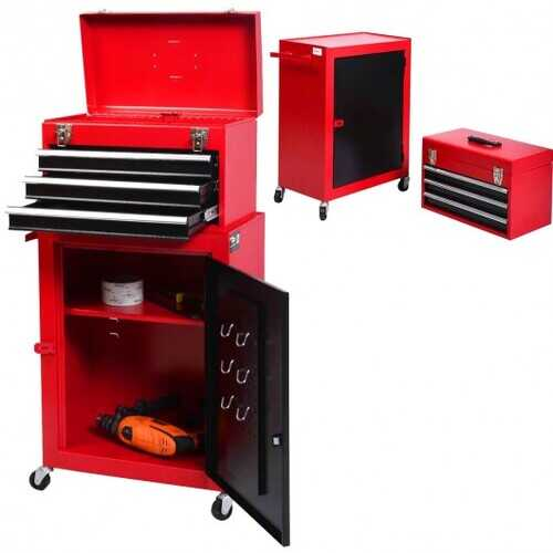 2 PC Mini Tool Chest Cabinet Storage Toolbox