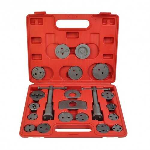 22pc Universal Caliper Tool Kit Case Wind Back Disc Brake Pad Piston Compressor