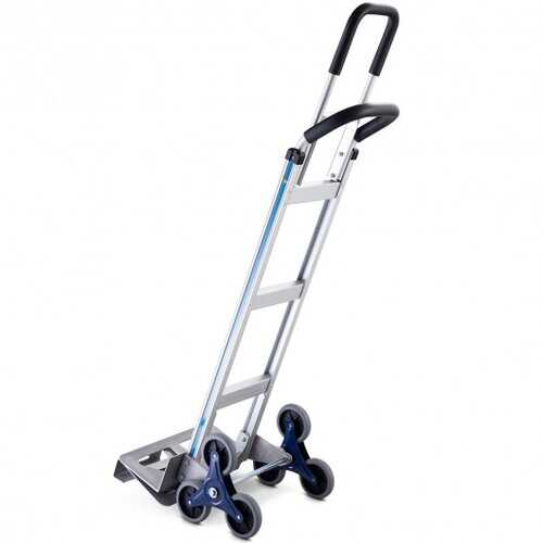 2-in-1 550 lbs Hand Truck Heavy Duty Stair Climbing Aluminum Cart Dolly