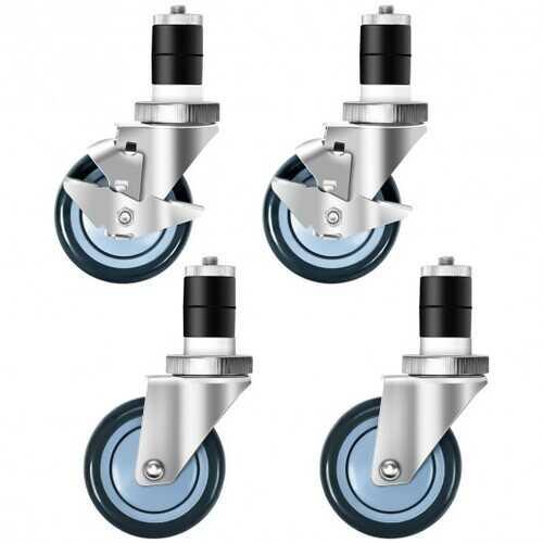 Set of 4 Swivel Caster Wheel with Brake