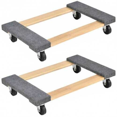 "2PCS Furniture Dolly Moving Carrier 1000lbs Capacity 30""18"""