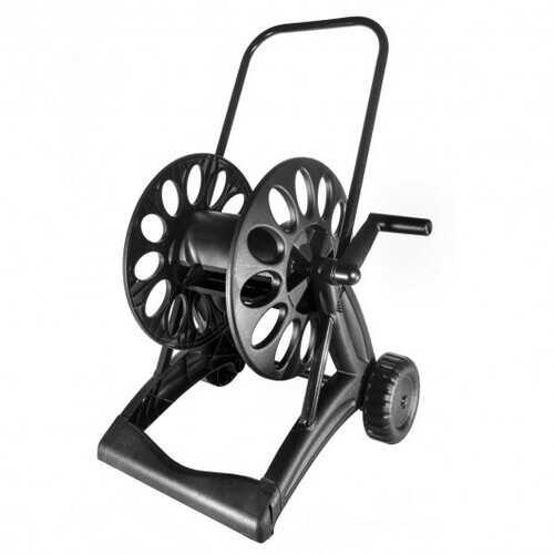 Steel Garden Hose Reel Cart with Wheels Holds