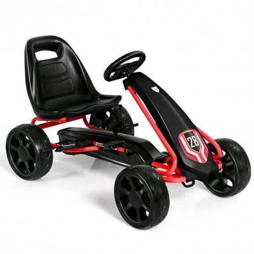 Kids Ride On Toys Pedal Powered Go Kart Pedal Car-Black