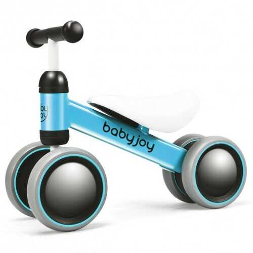 4 Wheels No-Pedal Baby Balance Bike-Blue