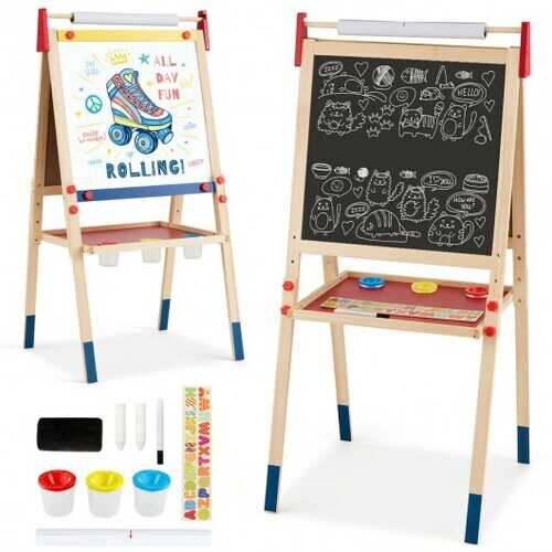 All-in-One Wooden Height Adjustable Kid's Art Easel