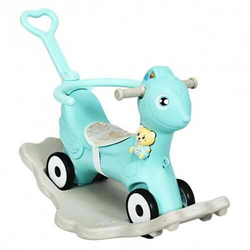 4 in 1 Baby Rocking Horse with Music-Green