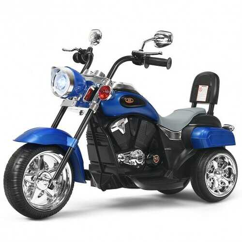 6V 3 Wheel Kids Motorcycle-Blue