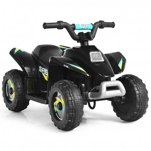 6V Kids Electric ATV 4 Wheels Ride-On Toy -Black