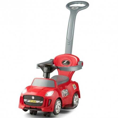 3 in 1 Kids Ride on Push Car Stroller Toddler Wagon-Red