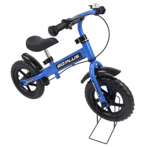 """12"""" Three Colors Kids Bike Bicycle with Brakes and Bell-Blue"""