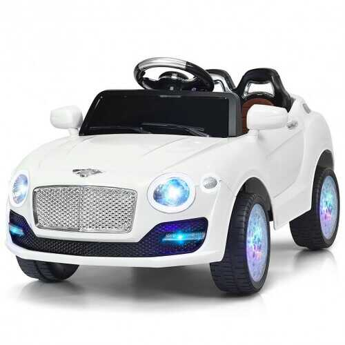 6V Kids Ride on Car RC Remote Control with MP3-White