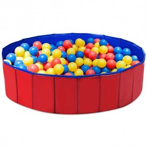 "48"" Foldable Kiddie Pool Kids Bath Tub"