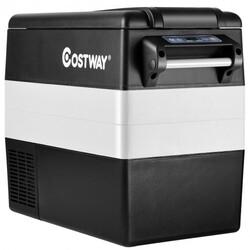 Category: Dropship Coolers, SKU #EP24755US, Title: 55 Quarts Portable Electric Car Refrigerator-Black