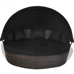 Category: Dropship Pool And Spa, SKU #HW66656+, Title: Outdoor Daybed with Retractable Canopy