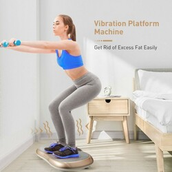 Category: Dropship Exercise & Fitness, SKU #SP37318US, Title: Vibration Plate Exercise Machine for Weight Loss & Toning with 3 Gears Vibration Frequency