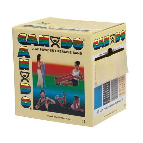 Cando Exercise Band Tan XX-Light 50-Yard Dispenser Box