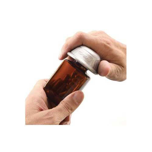 Dycem Pill Bottle Opener Silver