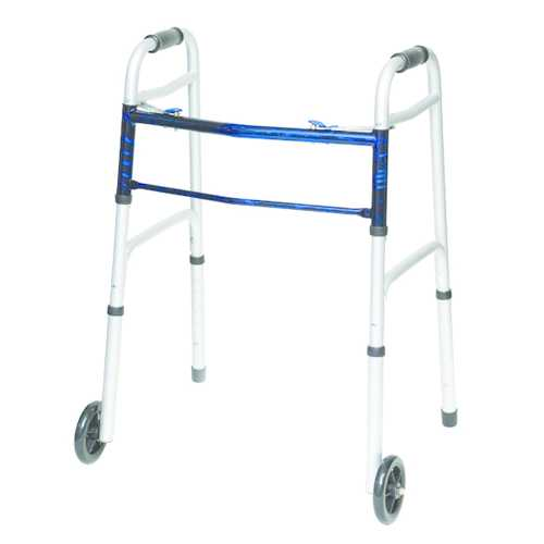 Folding Walker w/5  Wheels Adult--(ProBasic)  Case/4