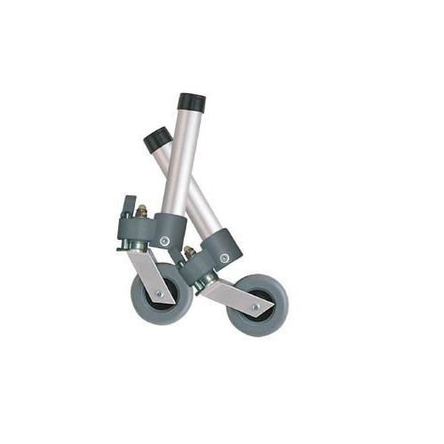Comb. Swivel/Fixed Wheels 3  w/Lock and Rear Glides (pr)
