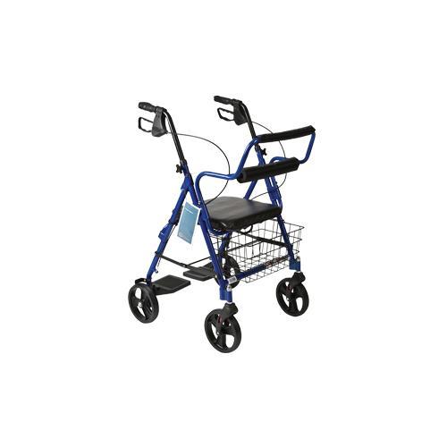 Combination Blue Rollator & Transport Wheelchair