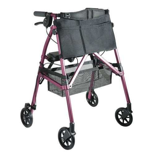 EZ Fold-N-Go Rollator - Regal Rose  (each)