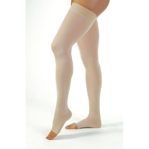 Jobst Relief 20-30 Thigh-Hi Dot OT Beige XL Silicone Band