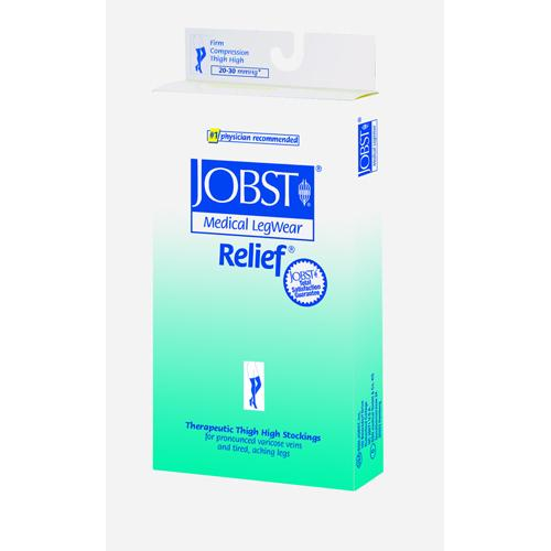 Jobst Relief 20-30 Thigh-Hi Beige Large  Silicone Band