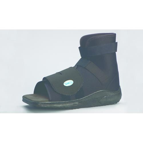 Slimline Cast Boot Black Sq. Toe   Extra-Small Adult