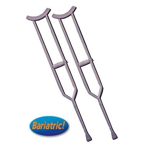 Crutches  Steel  H/D Bariatric Tall Adult  (Pair)