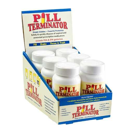 Pill Terminator Countertop Display Contains 6 Bottles