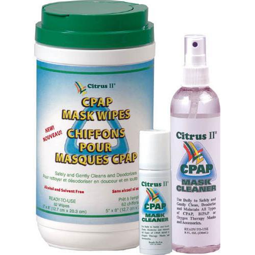 Citrus II CPAP Mask Cleaner Wipes  Tub/62