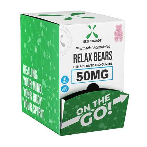 CBD Relax Bears 50mg On-The-Go Gravity Dispenser (Bx/24)