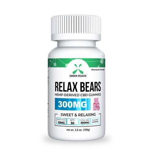 CBD Relax Bears 300gm Edibles Gummies (30 ct)10mg ea