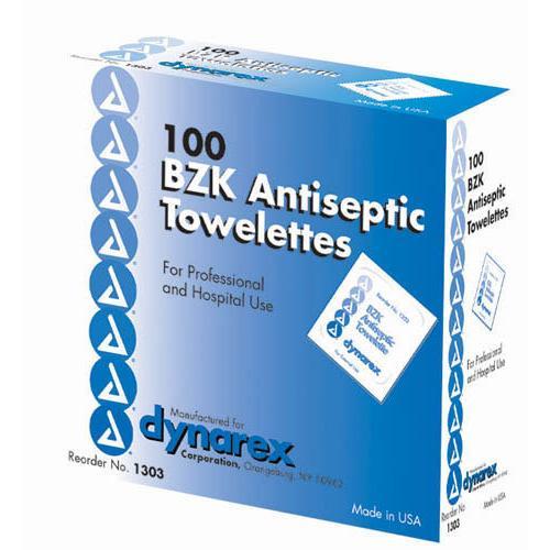 BZK Towelettes Bx/100 Non-Sterile