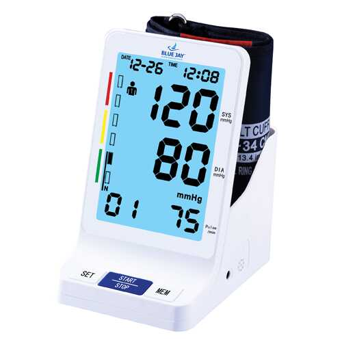 Blue Jay Perfect Measure Big Digit Talking Dlx BP Monitor