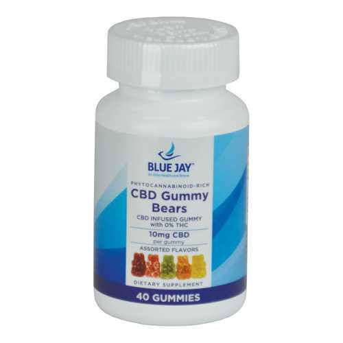 CBD Gummy Bears Blue Jay 10mg each  40/Bottle (400mg)