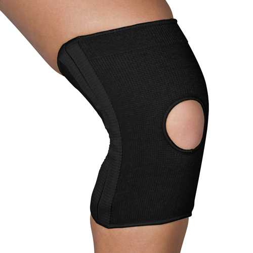Blue Jay Slip-On Knee Support Open Patella w/Stabilizers Med